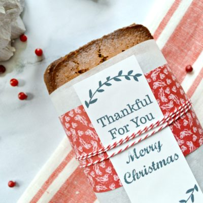 Download these free bread wrapper printables and give them to friends and family for the holidays wrapped around a warm loaf of bread