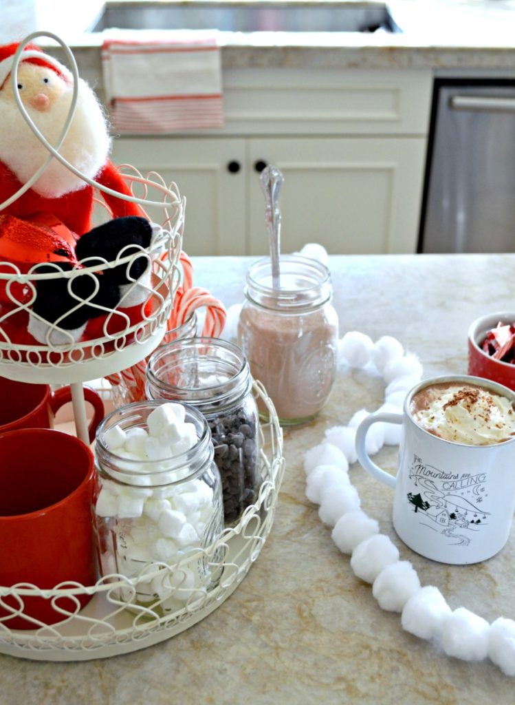 Create a Hot Cocoa Bar using a tiered tray this holiday season My Uncommon Slice of Suburbia