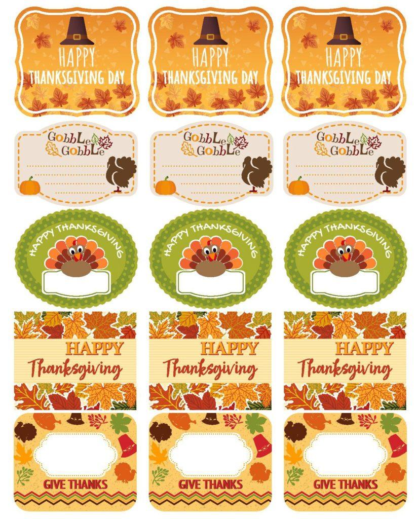 Free And Editable Thanksgiving Printables