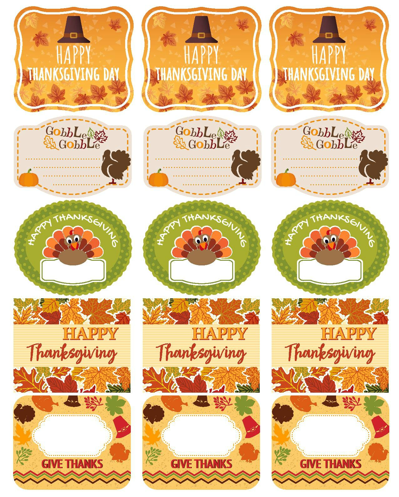 Free And Editable Thanksgiving Printables - My Uncommon ...
