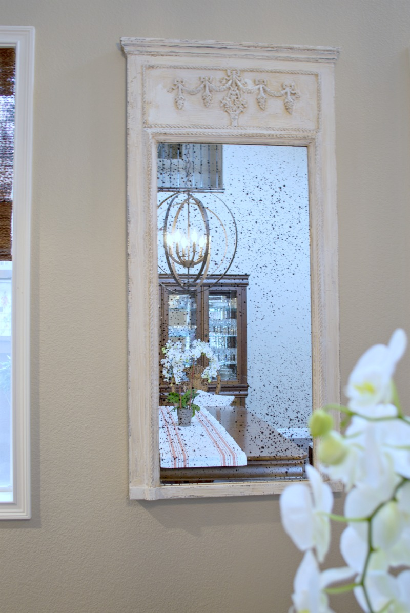 Antique Mirror Makeover Using Chalky Paint