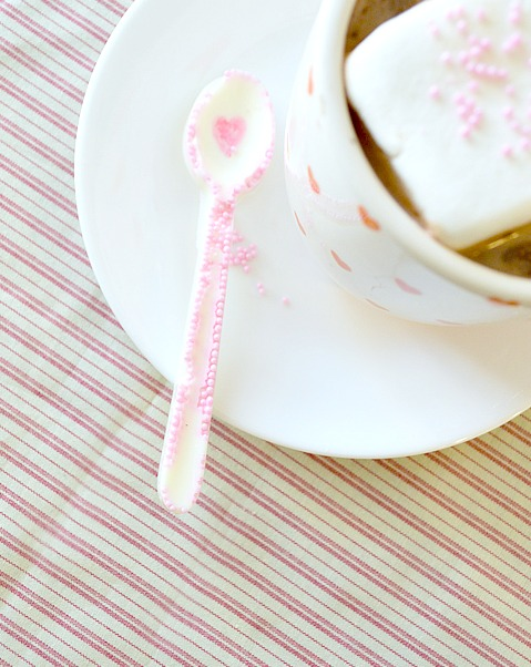 Valentines White Chocolate Spoons