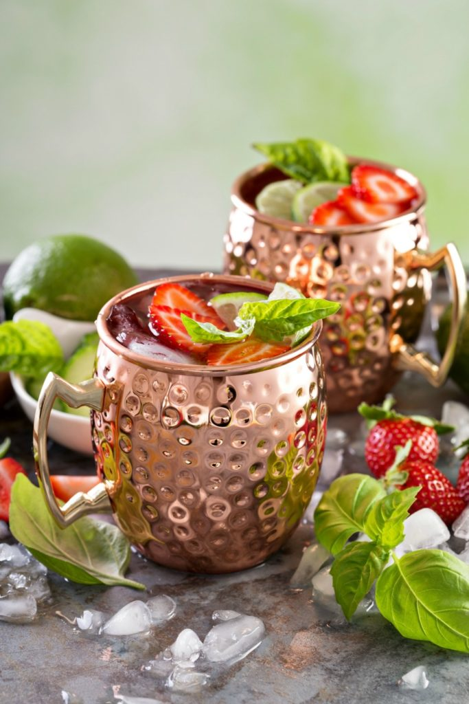 Strawberry Basil Moscow Mule Recipe, so delicious and refreshing!