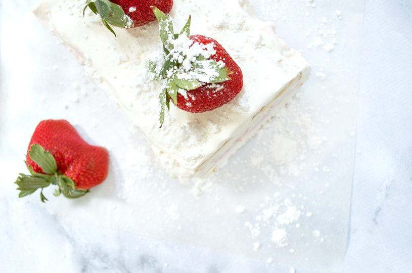 Easy to make and so delicious, strawberry Ice Cream cake