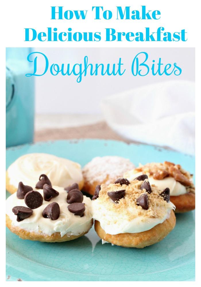 How to make delicious Breakfast doughnut bites, so yummy!