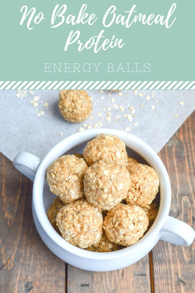 No Bake Oatmeal Protein Energy Balls, so delicious and healthy!
