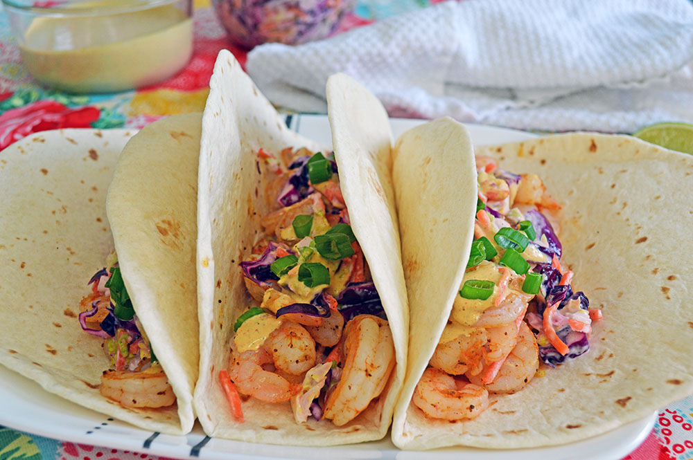 THese delicious Shrimp taco's are so good, you wont have any leftovers!