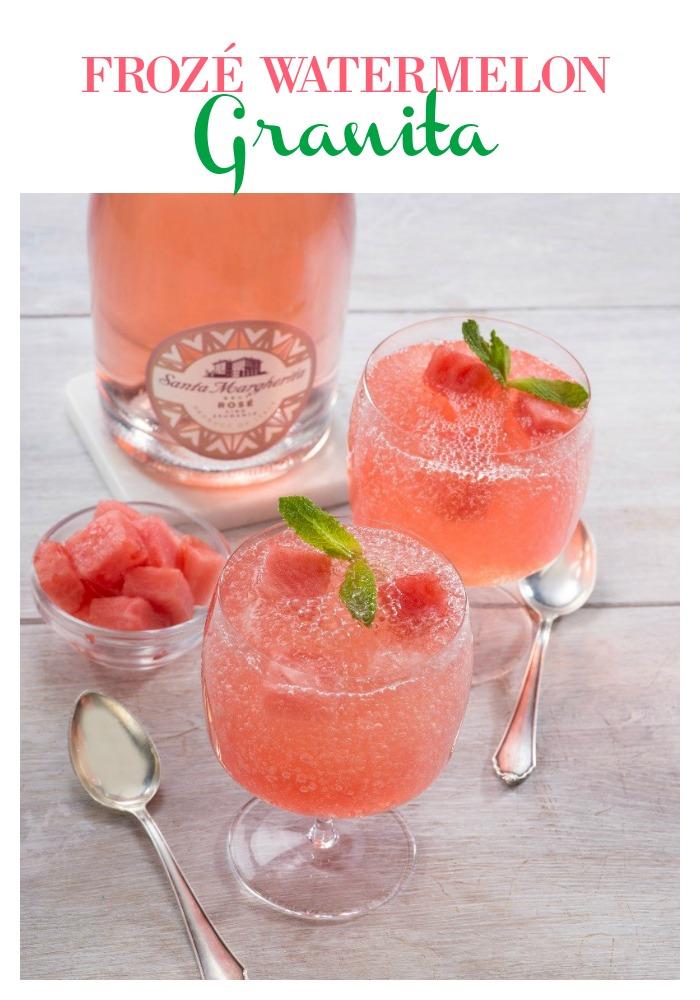Delicious recipe for Froze watermelon Granita