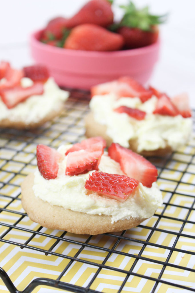 Strawberry Lemonade Cookies These are such an easy summertime dessert to serve up! You can use your favorite sugar cookie recipe or ready to bake sugar cookies for a fast treat.