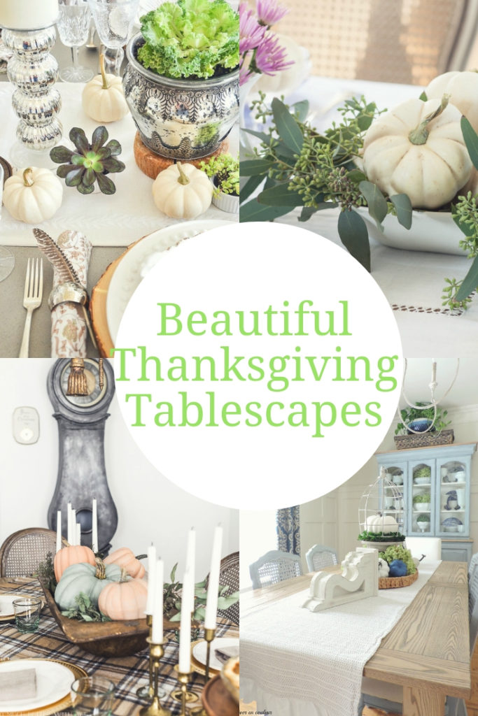 Beautiful Thanksgiving Tablescapes to give you inspiration as you decorate your fall table.