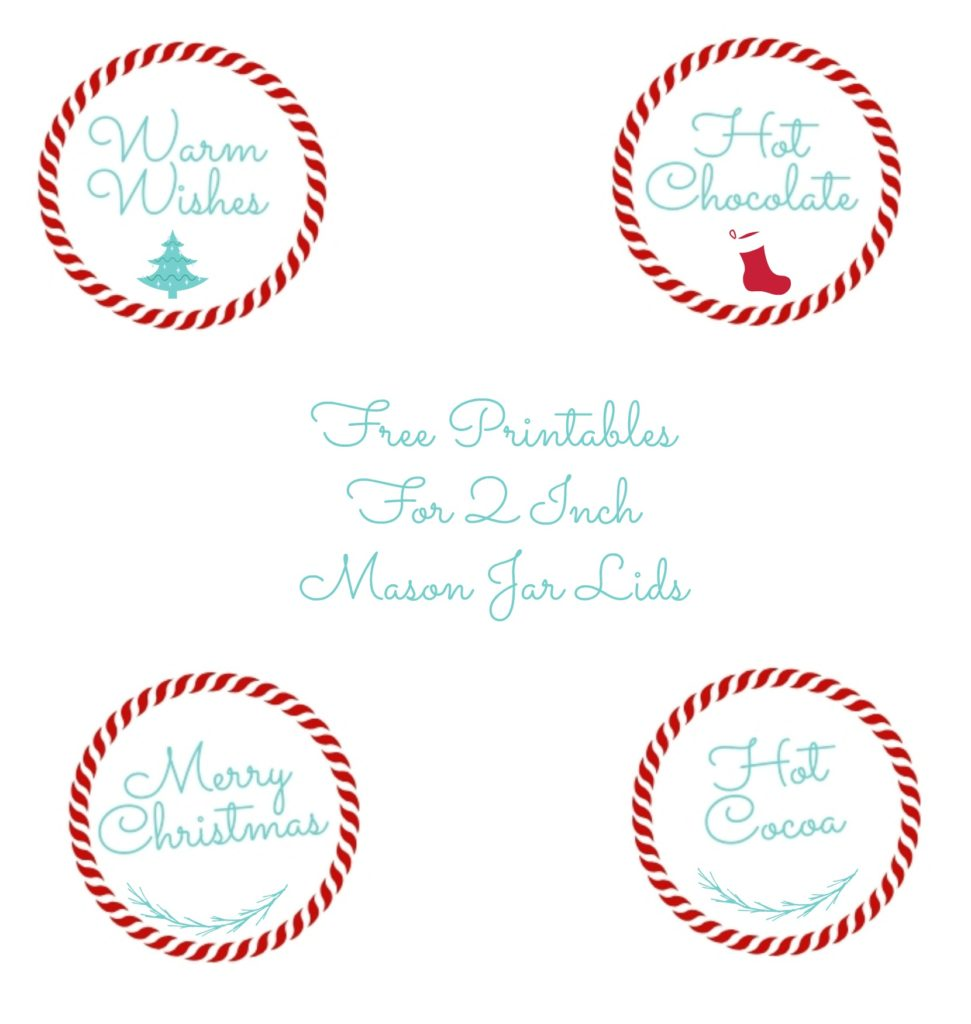 Free Printables that will fit a 2 inch mason jar lid