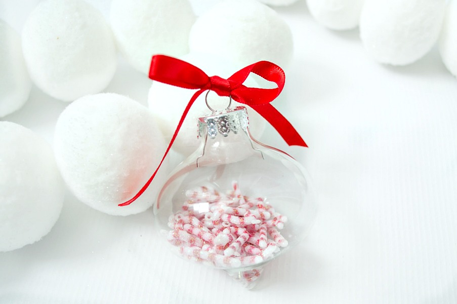 Learn how to make this fun glass filled ornaments