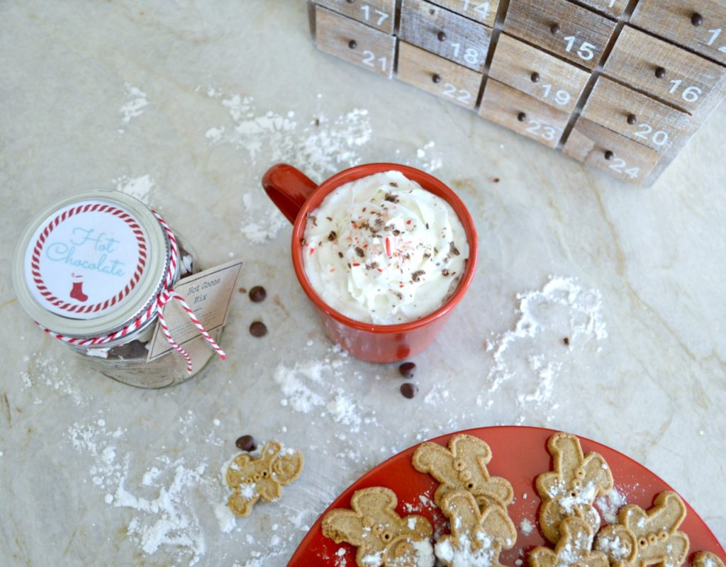 Free Printables for Hot chocolate in a jar gifts