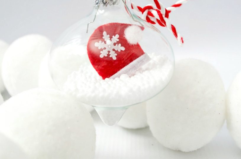 Glass Filled Christmas Ornament