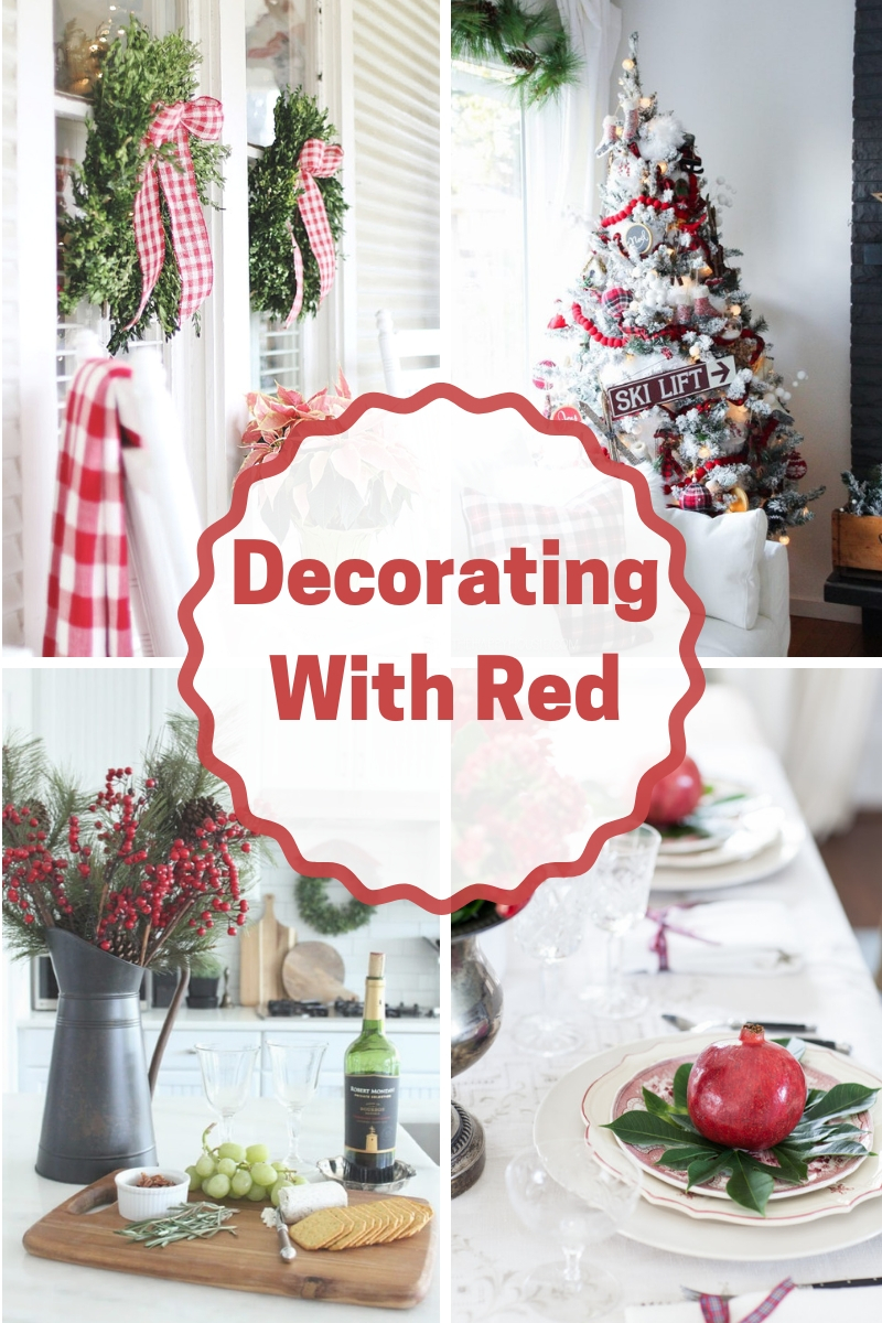 Beautiful Ideas on decorating with red for the holidays!
