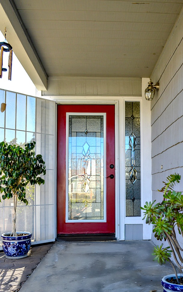 How To Add A Glass Door Insert Into A Exterior Door. Front door makeover using zabitat glass door insert for a completely new look