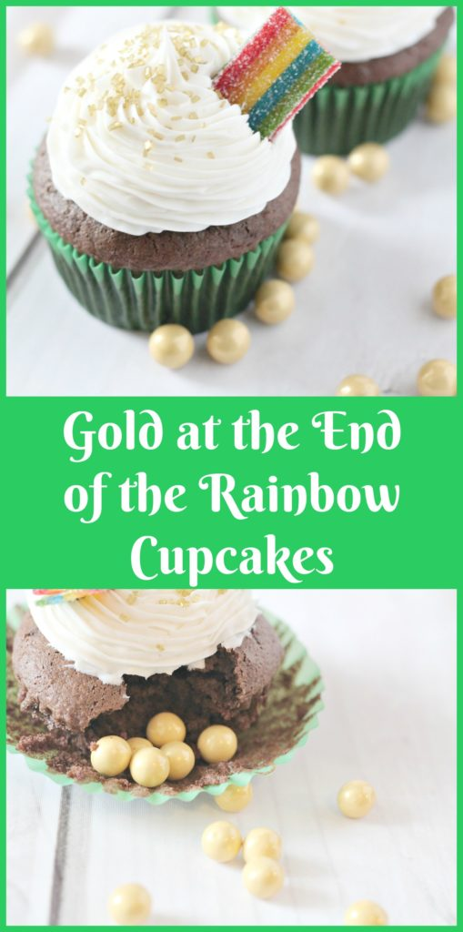 Gold at the End of the Rainbow Cupcakes