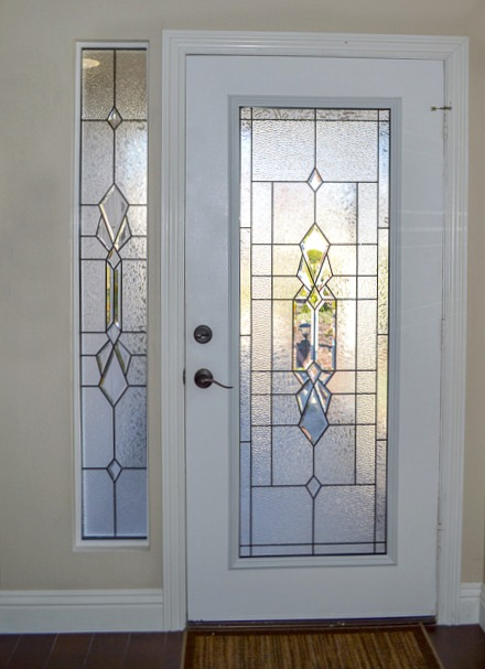 Front Door Glass Insert with Zabitat