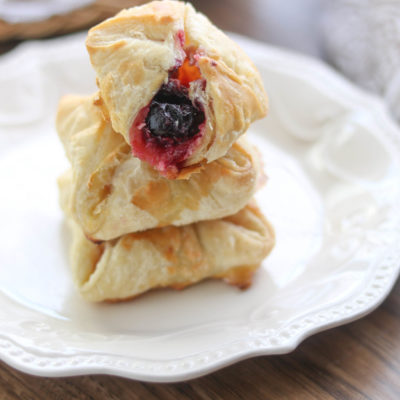 Cherry Cream Cheese Bundles are a decadent brunch item or a quick cherry dessert.