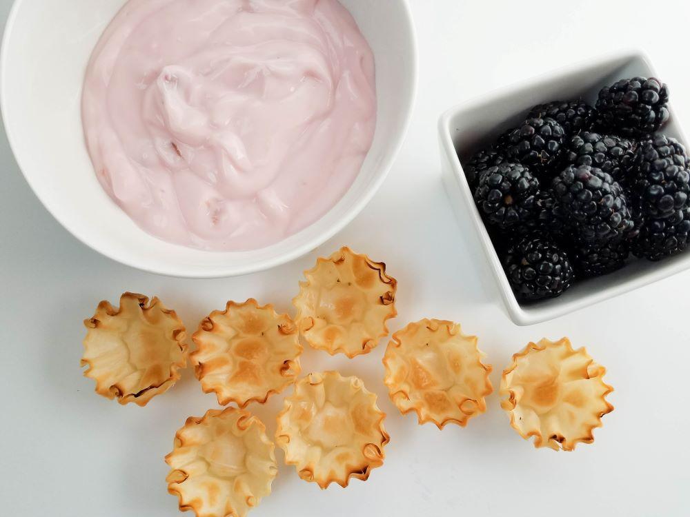 Easy Blackberry Yogurt Tarts Recipe