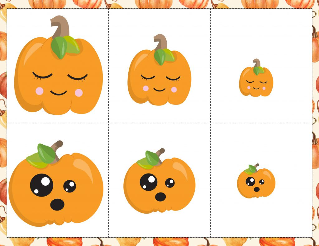 The kids are going to LOVE this free Pumpkin Sorting game! Sorting activities teach little ones that each object belongs to a group. Sorting objects into distinct groups also requires using logical thinking. This is a very important skill that our kids are working on developing.
