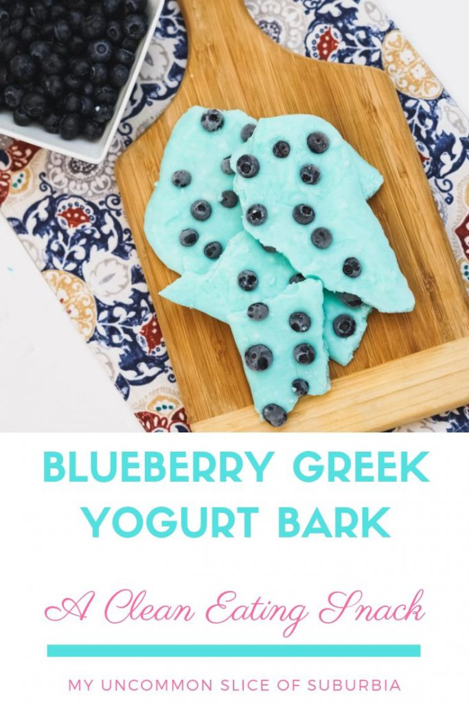 This blueberry Greek yogurt bark recipe is healthy, refreshing, low in sugar and so easy to make. With only 3 ingredients, the kids and I whip this up in no time. It's the perfect snack for after school and even a healthy alternative for breakfast when I'm rushing out the door.