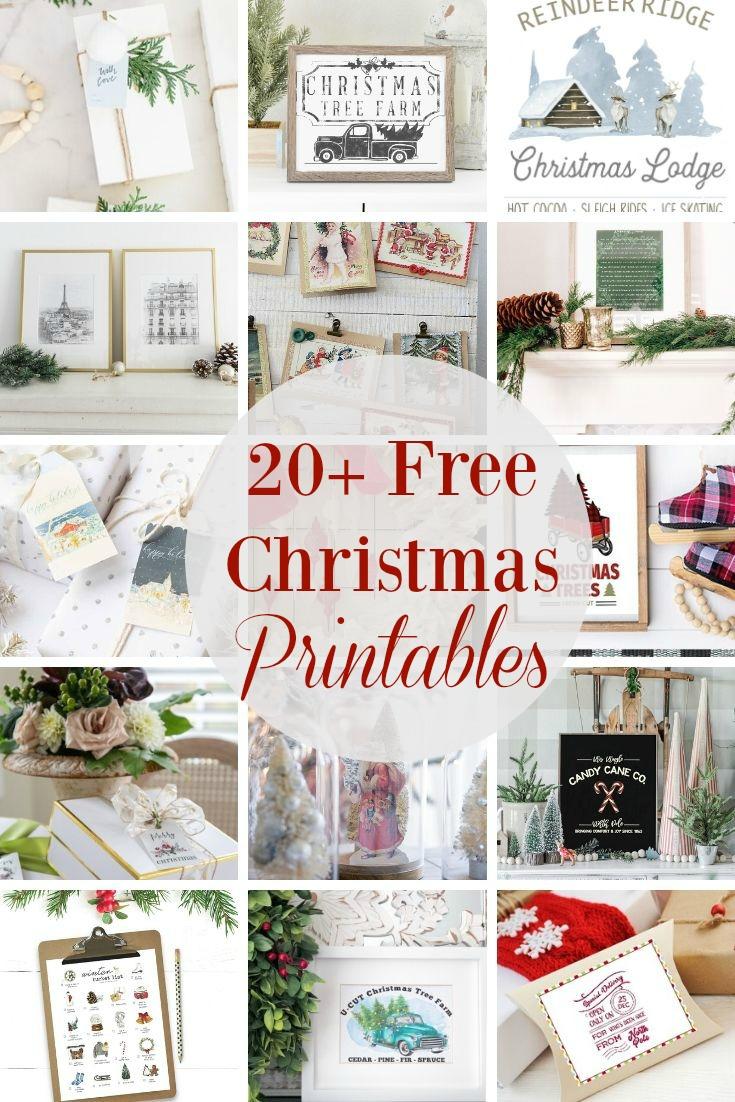 Christmas Gift Tag Set Free Printable My Uncommon Slice Of Suburbia
