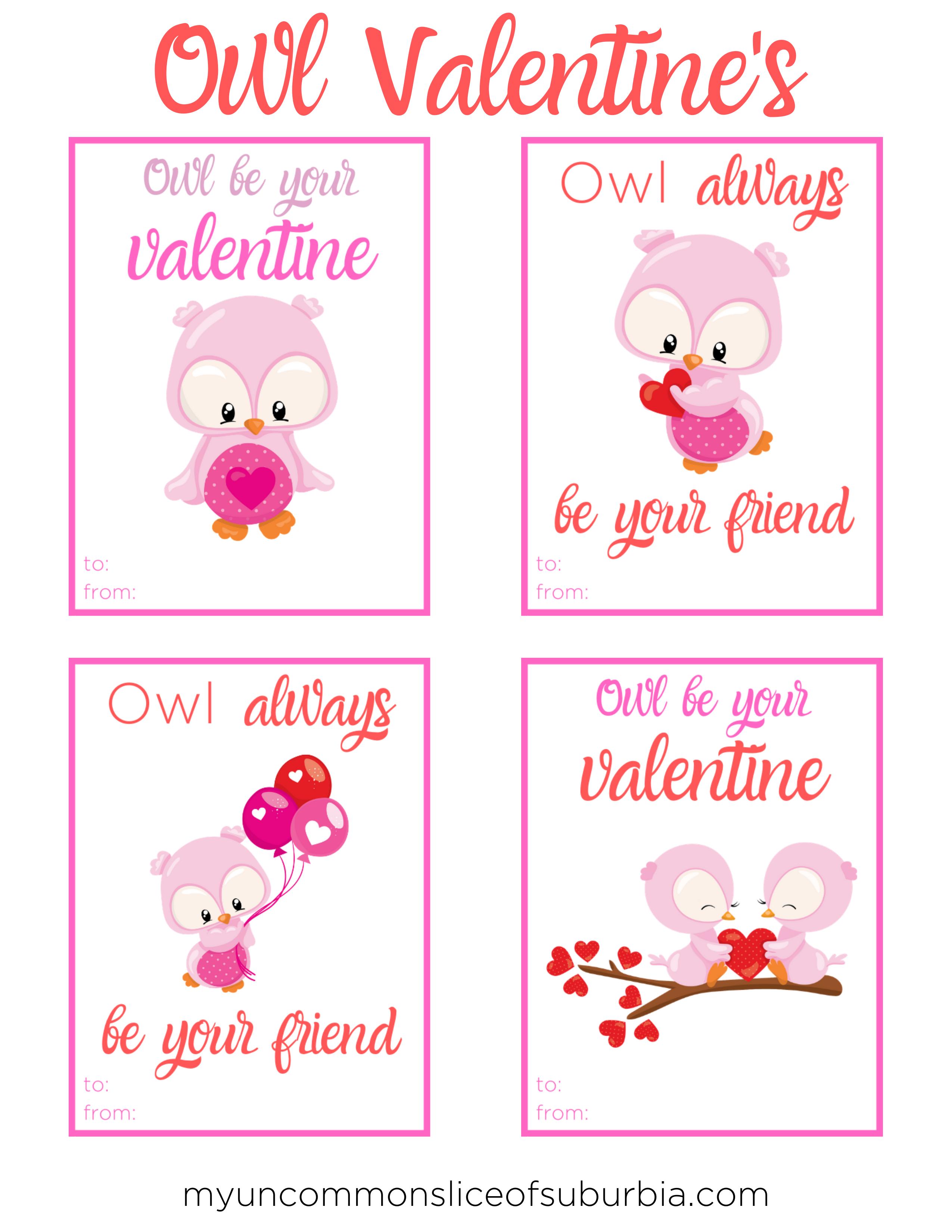 - Owl Valentine Cards Free Printable - My Uncommon Slice Of Suburbia