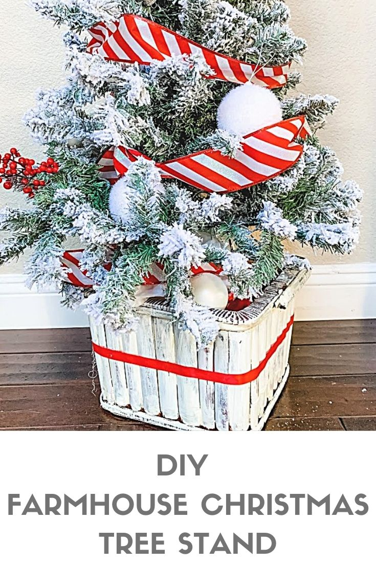 Diy Farmhouse Christmas Tree Basket My Uncommon Slice Of Suburbia