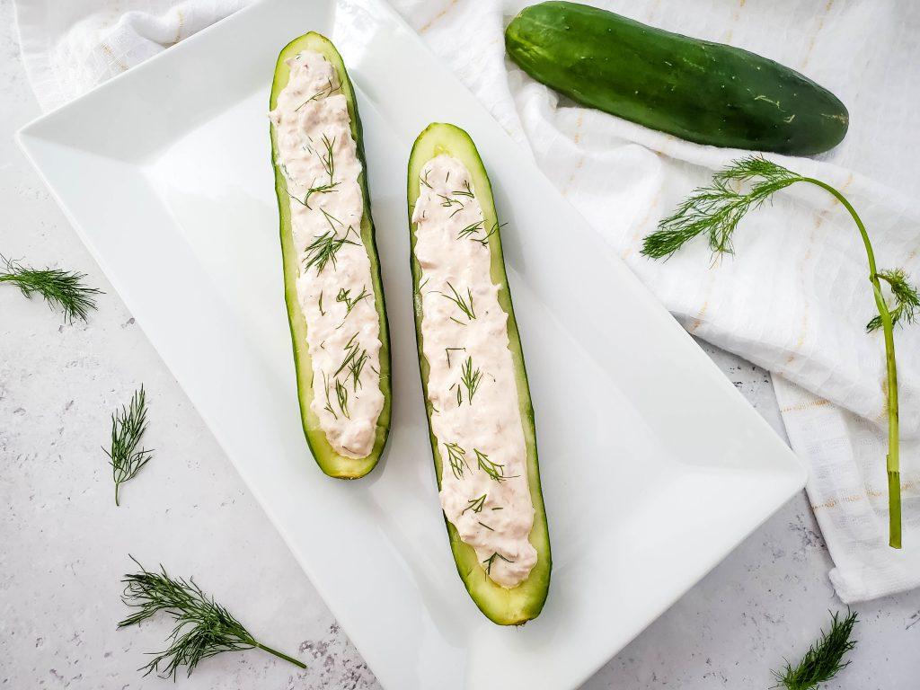 Healthy Keto Tuna Cucumber Bites