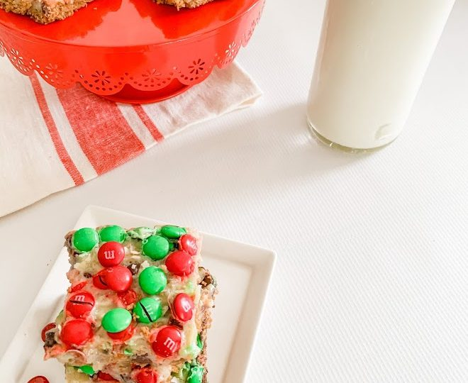 Christmas Magic Cookie Bars are rich, yet deliciousand make for the perfect holiday treat